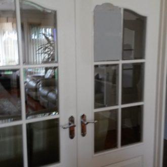 white internal french doors