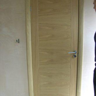 unglazed internal wood door