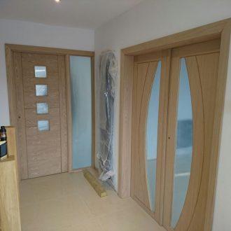 internal oak pre-glazed doors