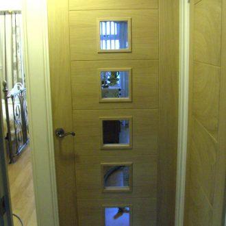 glazed internal wood door