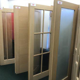 pre glazed doors in City Glass & Doors showroom
