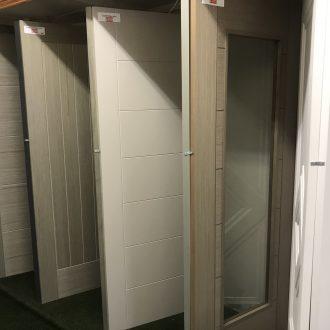 neutral doors in City Glass & Doors showroom
