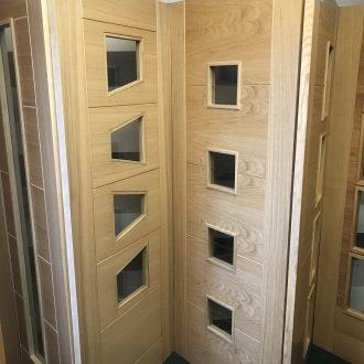 glazed doors in City Glass & Doors showroom